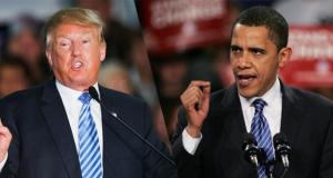الرئيس الامريكي المنتخب دونالد ترامب، ونظيره السابق باراك اوباما Google Images