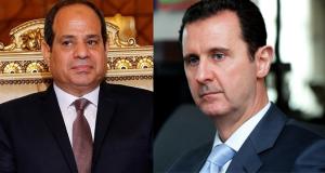 الرئيس السوري بشار الاسد ونظيره المصري عبدالفتاح السيسي