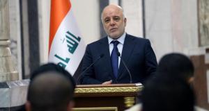 حيدر العبادي في مؤتمر صحفي، عقده في العاصمة بغداد 24/تشرين الثاني/2016