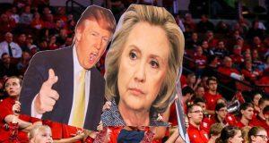 الديموقراطية هيلاري كلينتون والجمهوري دونالد ترامب ( politobzor.net )