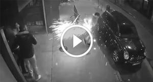 فيديو انفجار سياجرة في جيب شاب فرنسي