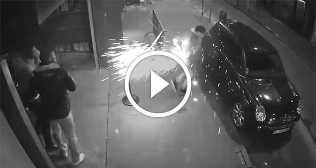 بالفيديو .. لحظة انفجار سيجارة الكترونية في جيب شاب فرنسي