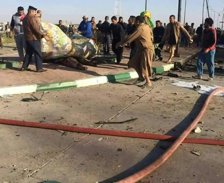 شهداء وجرحى بإنفجار سيارة مفخخة بداخل محطة وقود شرق الحلة