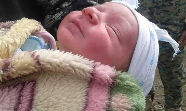 العثور على طفل رضيع في قضاء الخالص (Facebook Images)