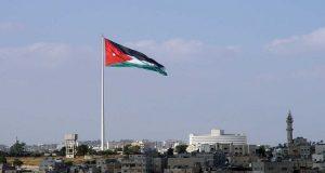 العلم الاردني في العاصمة عمّان (Google Images)