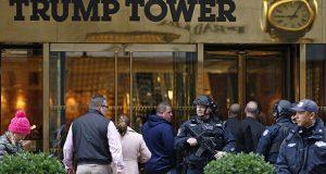 الشرطة الامريكية بالقرب من برج ترامب في نيويورك (15/تشرين الاول/2016) - (AP Photo/Kathy Willens)