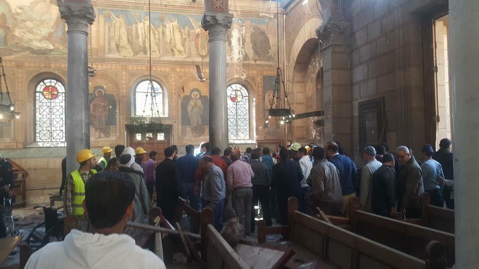 28 شهيداً بتفجير داخل كاتدرائية الأقباط في القاهرة #مصر