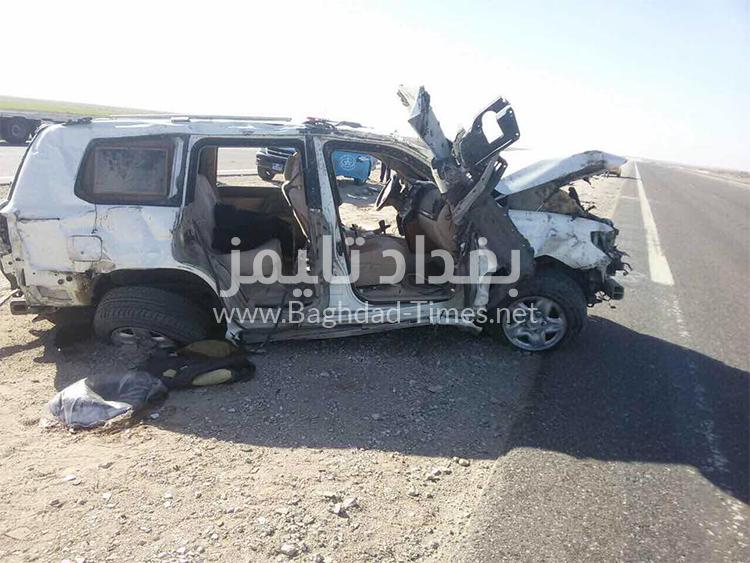 صور حادث السير الذي تسبب بوفاة النائب عبد العظيم عجمان (10/كانون الاول/2016)