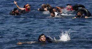 غرق مهاجرين في بحر ايجه في تركيا