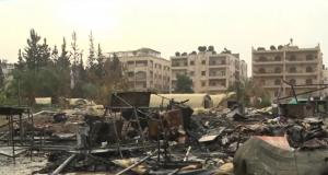 الدمار الذي خلفه القصف على المستشفى الروسي في حلب (5/كانون الاول/2016) Youtube Screenshot