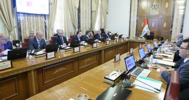 مجلس الوزراء يعقد جلسته الاعتيادية برئاسة حيدر العبادي
