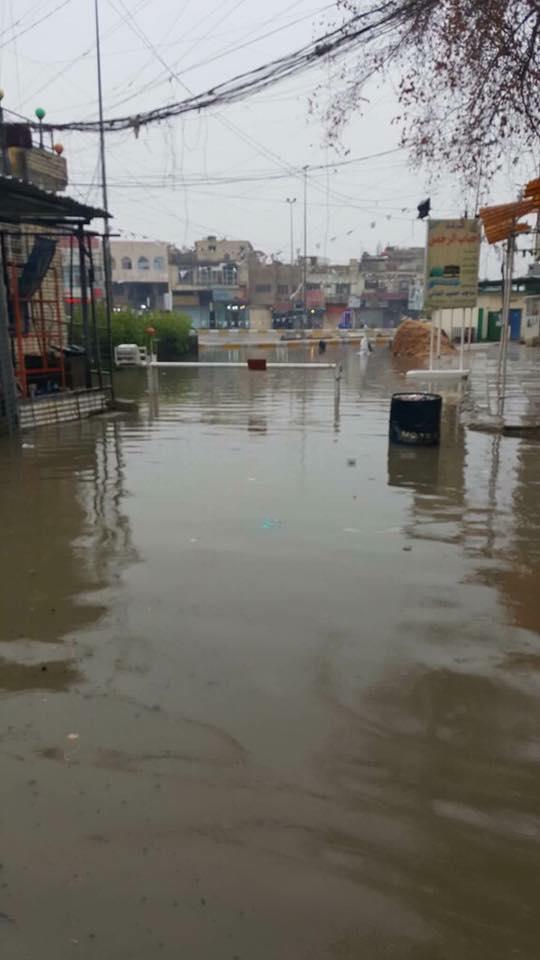 بالصور …. فيضانات تصيب شوارع العاصمة بعد ساعات من هطول الأمطار !!!