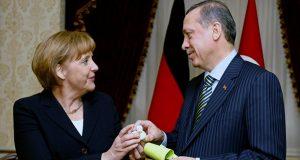 انجيلا ميركل ورجب طيب اردوغان