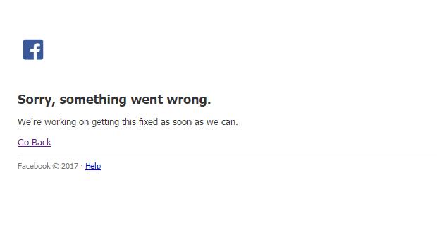 توقف موقع فيسبوك عن العمل