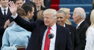 الرئيس الامريكي الجديد دونالد ترامب في حفل مراسم تنصيبه