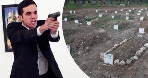 مقبرة قاتل السفير الروسي صور دفن جثته في مقبرة مجهولة
