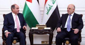 حيدر العبادي يستقبل نظيره الاردني هاني فوزي الملقي في العاصمة بغداد (9/كانون الثاني/2017)