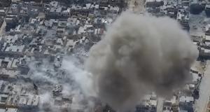 """صور حصرية: انتحاري """"داعشي"""" يفجر نفسه وسط تجمعاً للجيش التركي في الباب"""