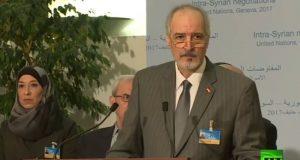 رئيس وفد الحكومة السورية إلى مفاوضات جنيف 4، بشار الجعفري