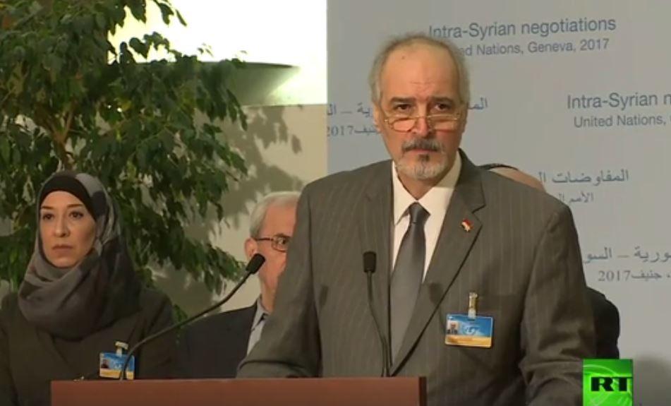 بشار الجعفري: من لن يدين هجوم حمص شريك للإرهاب (+فيديو)
