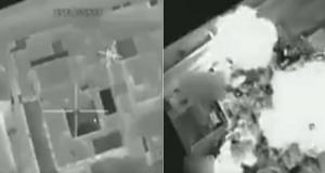 لحظة تدمير مقرات داعش في البوكمال بطائرات F-16 العراقية