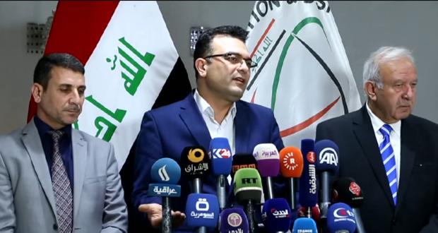 وزير الهجرة العراقي جاسم محمد في مؤتمر صحفي ببغداد - 5/آذار/2017 (Screenshot RT/Video)