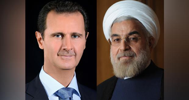 الرئيس الأسد يتلقّى اتصالاً هاتفياً من نظيره الإيراني حسن روحاني