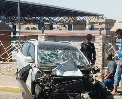 الشاعر عريان السيد خلف يتعرض لحادث سير في بغداد - 27/حزيران/2017 (Photo: Facebook Images)