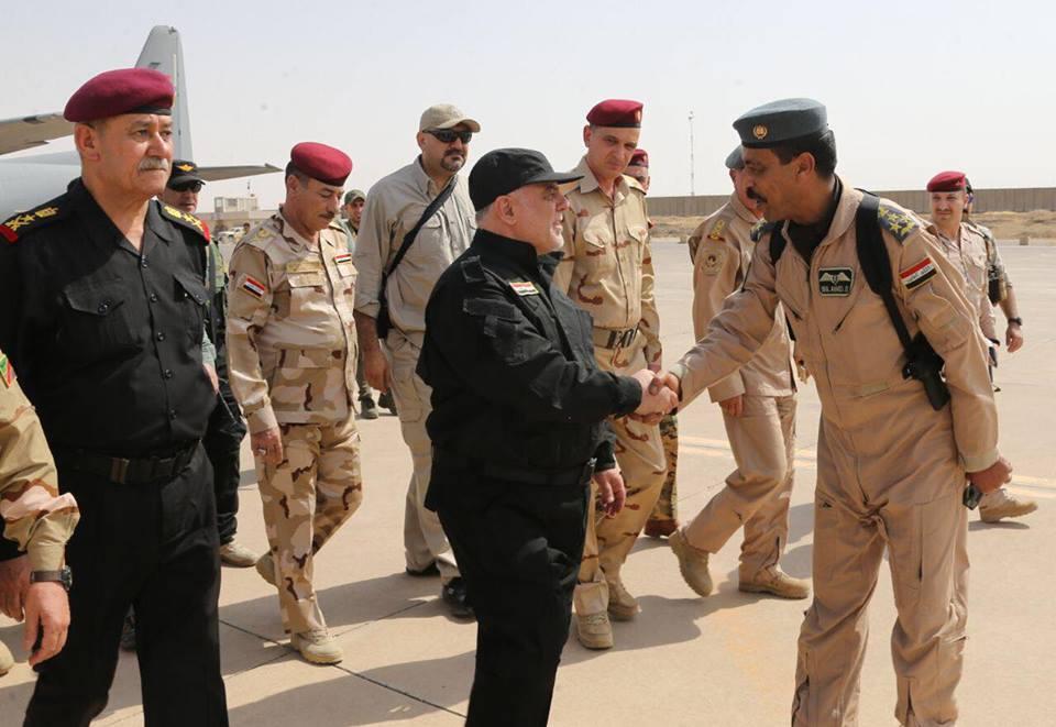 حيدر العبادي من #الموصل_المحررة: يبارك للمقاتلين الابطال والشعب العراقي بتحقيق النصر الكبير