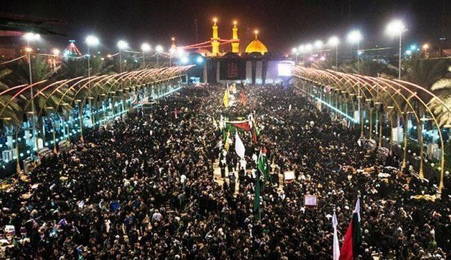 بدء مراسم تبديل رايات ضريحي الإمام الحسين وأخيه العباس (عليهما السلام)
