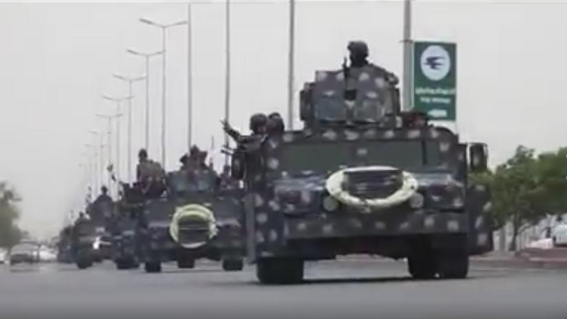 بالفيديو: قطعات من الشرطة الاتحادية تتوجه من #بغداد للمشاركة في معركة #الحويجة