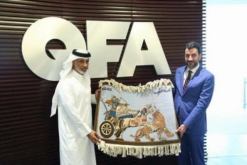 العراق وقطر يشكلان لجنة تنسيقية مشتركة لإنجاح تنظيم البطولة الرباعية