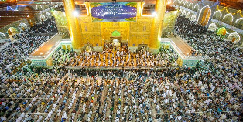 أكثر من مليون زائر يحيون ذكرى ولادة الإمام علي (ع) في النجف