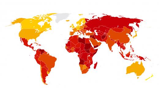 الشفافية الدولية تعلن قائمة باكثر دول العالم فساداً..والعراق في المقدمة