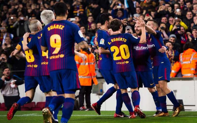 اليوم .. برشلونة يواجهة خيتافي بغياب أربعة من نجومه