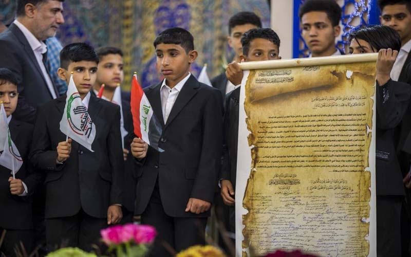 عوائل الشهداء يوجهون رسالة إلى السيد السيستاني