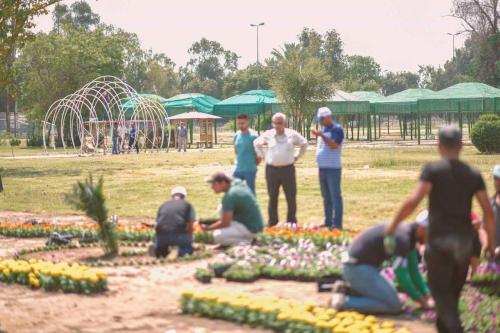 بالصور..بغداد تستعد لاحتضان مهرجان الزهور الدولي