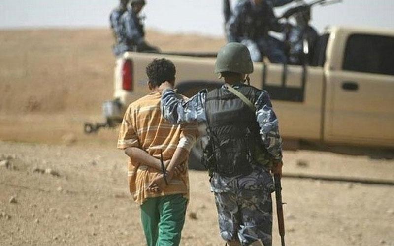 """اعتقال خمسة """"دواعش"""" بعملية دهم وتفتيش غرب الانبار"""