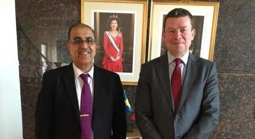 رئيس مجلس بغداد يبحث مع السفير السويدي تعزيز العلاقات التجارية والاقتصادية