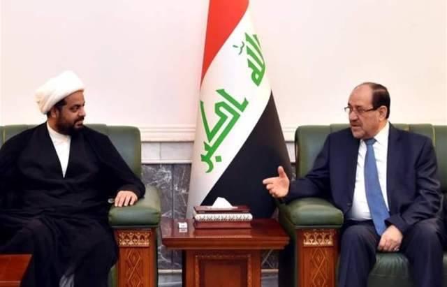 المالكي والخزعلي يبحثان مستجدات الإوضاع السياسية والأمنية ونتائج الانتخابات