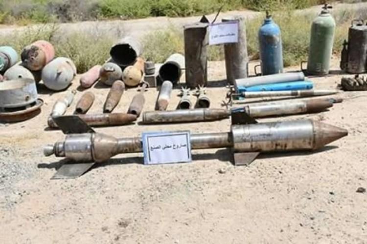 العثور على صاروخ موجه محلي الصنع وعبوتين ناسفتين في الأنبار