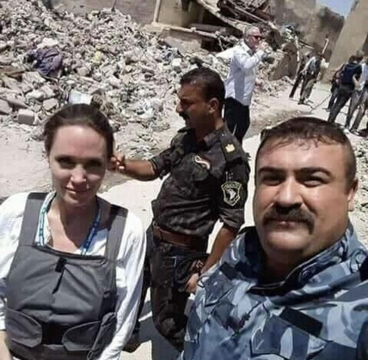أنجلينا جولي في الموصل لمساعدة ضحايا الارهاب