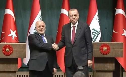 أردوغان للعبادي: العراق سيحصل على كامل حصته المائية