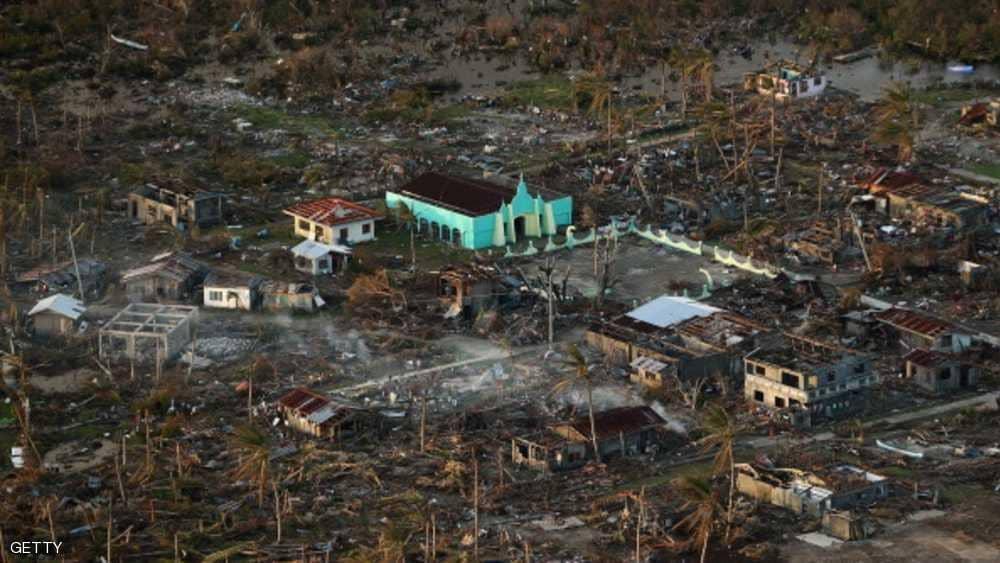 ارتفاع حصيلة قتلى إعصار مانغكوت في الفلبين إلى 65 قتيلا
