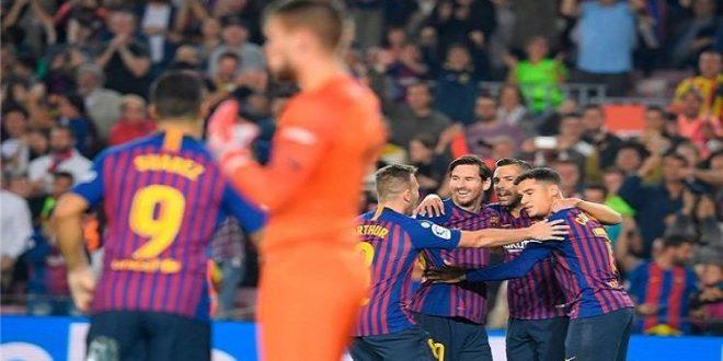 برشلونة يحقق فوزا كبيرا على اشبيلية برباعية في الليغا