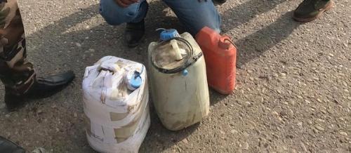 ضبط عبوتين ناسفتين على شكل جلكانات بلاستيكية جنوبي بغداد