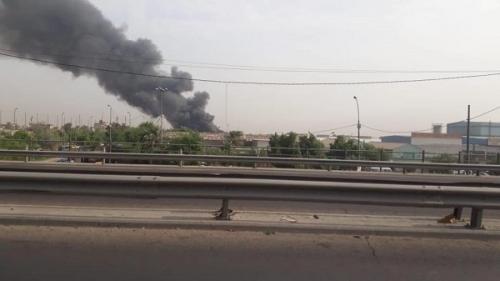 الداخلية: فرق الدفاع المدني تكافح حريقا نشب في مخزن وسط بغداد