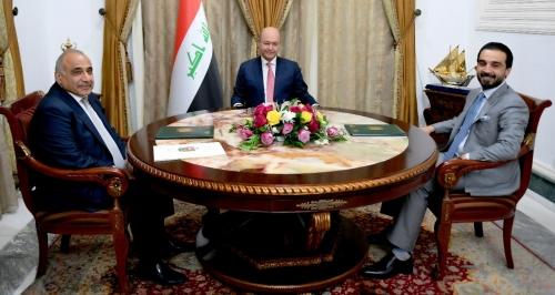 بدء اجتماع الرئاسات الثلاث في قصر السلام