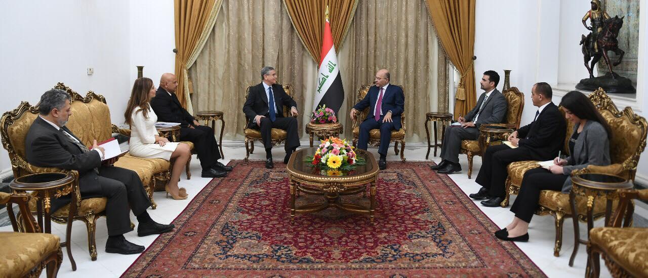 رئيس الجمهورية يؤكد أهمية تحقيق الاستقرار المالي والنقدي والاقتصادي في العراق