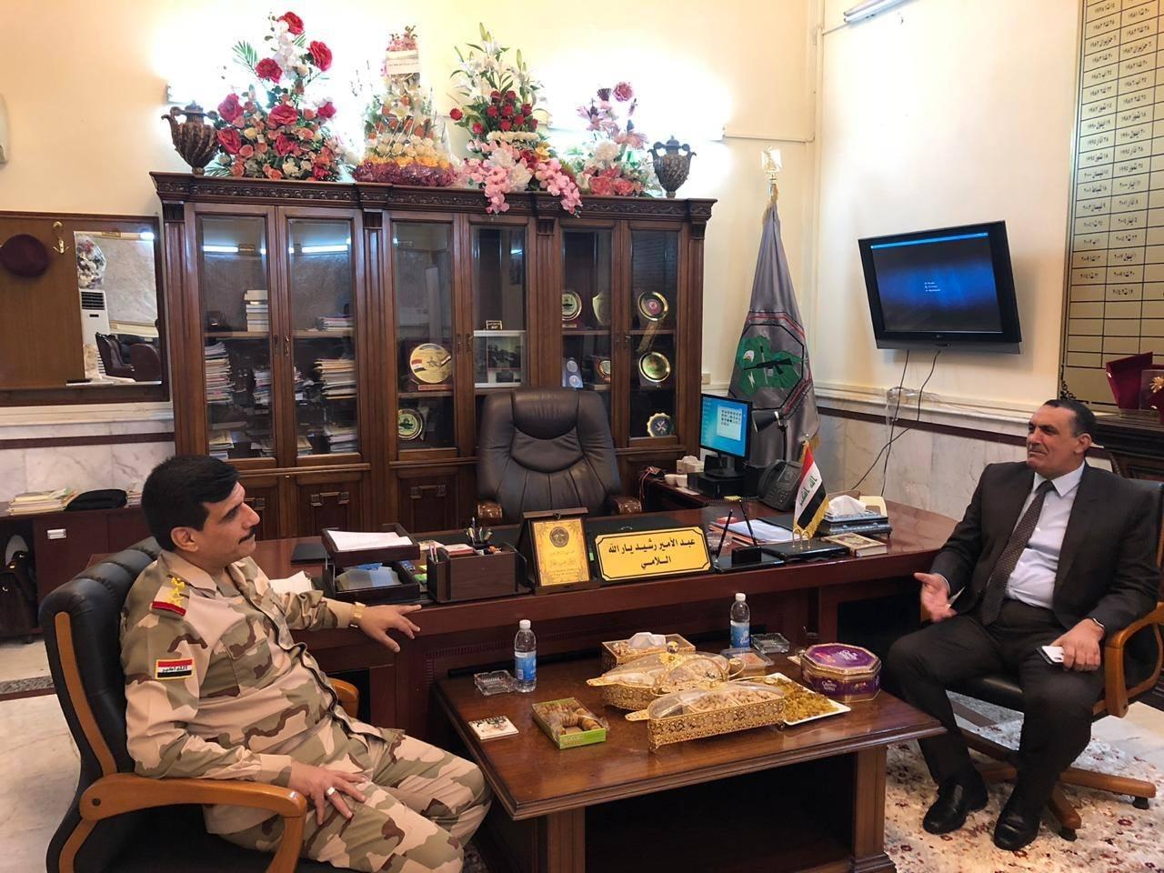 محافظ كركوك ويار الله يبحثان جهود محاربة الأرهاب ودعم القوات الأمنية بالمحافظة